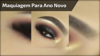 Maquiagem Para Ano Novo Passo A Passo Para Os Olhos, Veja Que Linda Esta Sombra!