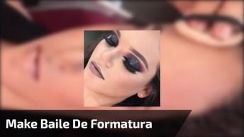 Maquiagem Para Baile De Formatura, Veja Que Linda Sombra Escura Com Brilho!