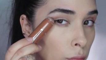 Maquiagem Para Balada Com Esfumado Marrom, Sombra Dourada E Batom Cremoso!