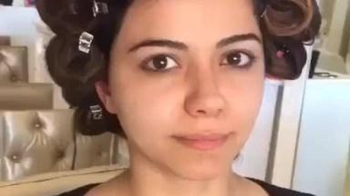 Maquiagem Para Colação De Garu Com Batom Vermelho, Veja Que Linda!