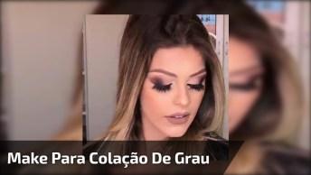 Maquiagem Para Colação De Grau, Veja Que Linda Sombra Esfumada E Batom Matte!