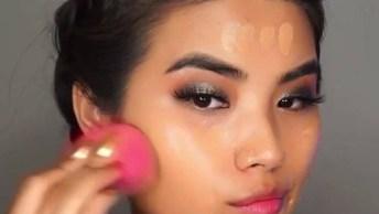 Maquiagem Para Festa Com Sombra Dourada E Esfumado Marrom E Preto!