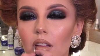 Maquiagem Para Festa Com Tom Esverdeado Nos Olhos, Confira!