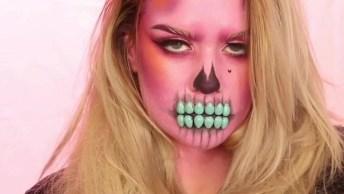 Maquiagem Para Festa De Halloween, Mais Uma Que É Fácil De Fazer!