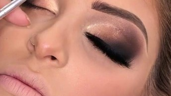 Maquiagem Para Formanda, Veja Que Esfumado Impecável Com Brilho Delicado!
