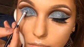 Maquiagem Para Formandas Com Aplicação De Pigmento Prata Maravilhoso!