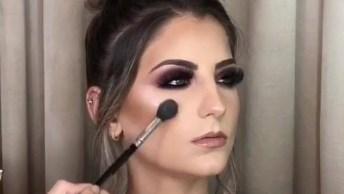 Maquiagem Para Formandas, Veja Que Linda Sombra Na Cor Marsala!