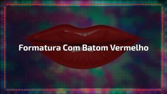 Maquiagem Para Formatura, Com Batom Vermelho E Sombra Delicada!!!