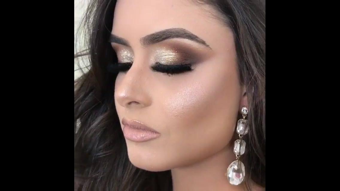 Maquiagem para formatura linda em tons marrom