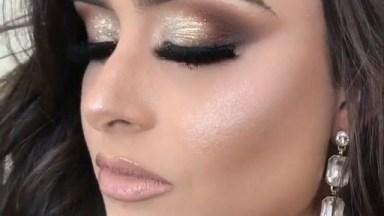 Maquiagem Para Formatura Linda Em Tons Marrom, E Dourado!
