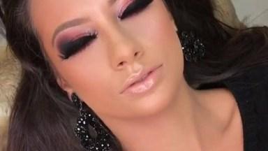 Maquiagem Para Formatura, Olha Que Cor Linda Esta Sombra Rosa Com Esfumado!