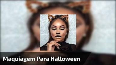 Maquiagem Para Halloween, Festa A Fantasia, Olha Só Que Linda!