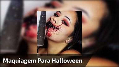 Maquiagem Para Halloween, Mais Um Vídeo Arrepiante Hahaha!