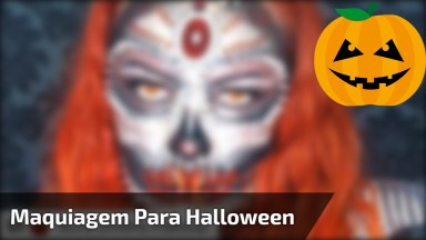 Maquiagem Para Halloween, Não Tem Como Não Ficar Impressionada!