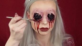 Maquiagem Para Halloween, O Resultado Fica Muito Legal, Confira!