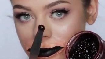 Maquiagem Para Halloween - Um Vídeo Que Trás Um Resultado Incrível!