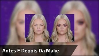 Maquiagem Para Loiras - O Antes E Depois Surpreende Qualquer Pessoa!