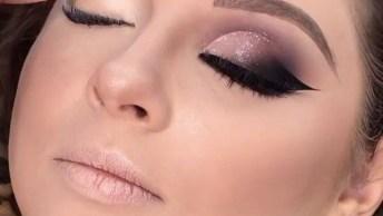 Maquiagem Para Madrinha De Casamento, Olha Só Esta Sombra Com Delineado!