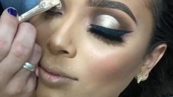 Maquiagem Para Madrinha De Casamento, Veja Que Linda Sombra Pérola!