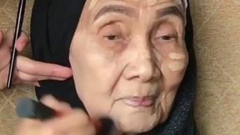 Maquiagem Para Mulher Idosa, Veja Como Ela Ficou Linda E Deslumbrante!