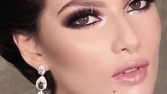Maquiagem Para Noivas Arrasadora, Com Esfumado Impecável E Gloss De Cor Nude!