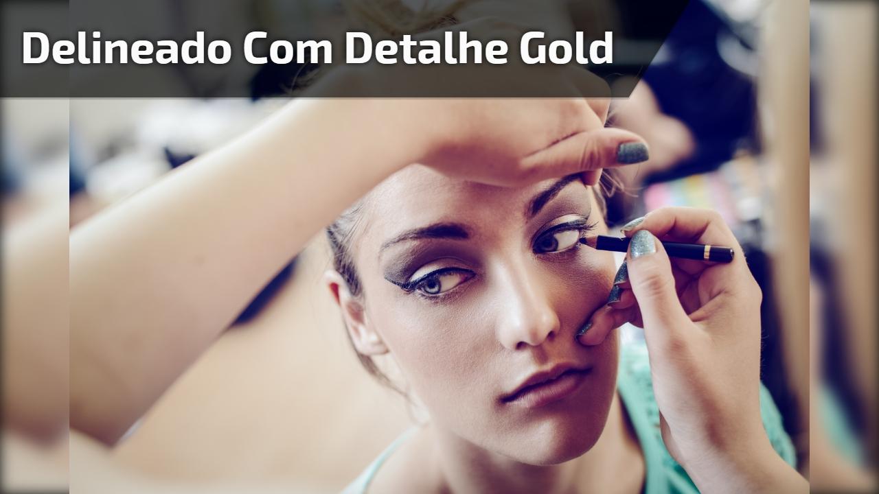 Delineado com detalhe gold