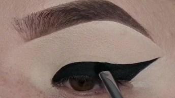 Maquiagem Para Os Olhos Apenas Com Corretivo E Pó Compacto E Delineado!
