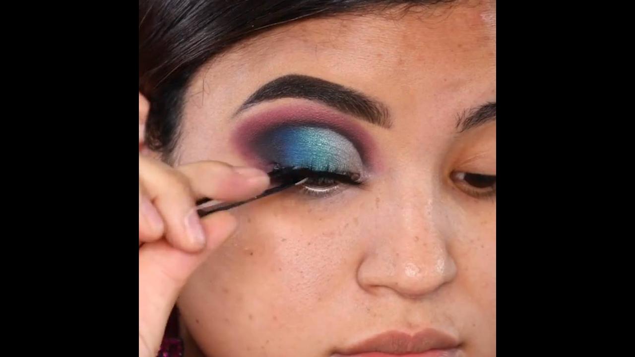 Maquiagem para os olhos com cores incríveis, você vai se apaixonar!