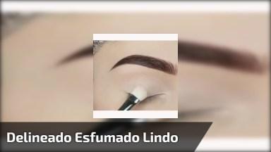 Maquiagem Para Os Olhos Com Delineado E Esfumado Super Bonito E Delicado!