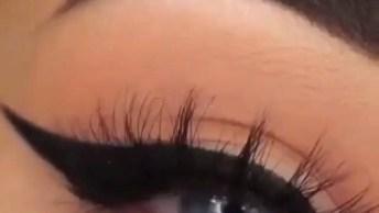 Maquiagem Para Os Olhos Com Delineado Maravilhoso, Olha Só Que Lindo!