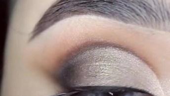 Maquiagem Para Os Olhos Com Sombra Cintilante Maravilhosa!