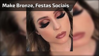 Maquiagem Para Os Olhos Na Cor Bronze, Perfeita Para Festas Sociais!