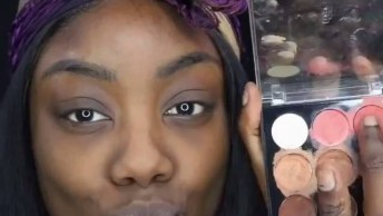 Maquiagem Para Pele Negra, A Make E Os Cabelos Ficaram Lindos!
