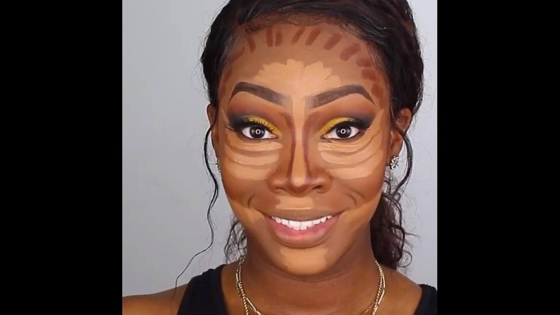 Maquiagem para pele negra, com sombra amarela