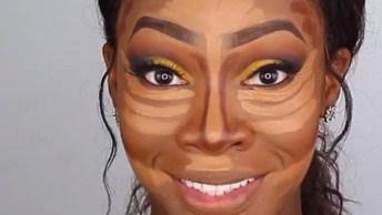 Maquiagem Para Pele Negra, Com Sombra Amarela, Ficou Muito Linda!