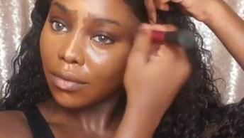 Maquiagem Para Pele Negra, Essa Modelo Ficou Maravilhosa!