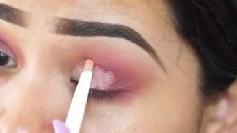 Maquiagem Passo A Passo Com Contraste Nas Cores Da Sombra E Do Batom!