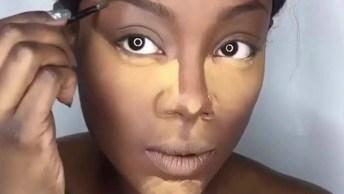 Maquiagem Passo A Passo Para Pele Morena A Negra, Fica Muito Linda!
