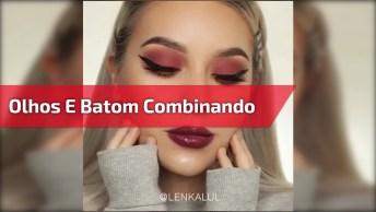 Maquiagem Perfeita, Olhos E Batom Combinando, Confira O Resultado!
