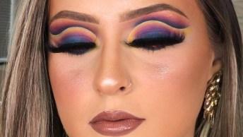 Maquiagem Perfeita Para Festa, Com Cores Vibrantes Maravilhosas!
