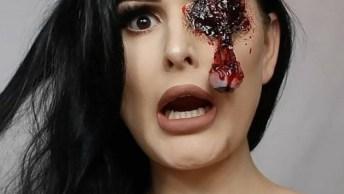 Maquiagem Perfeita Para Halloween, Suas Amigas Vão Pirar Nessa Make!