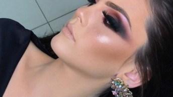 Maquiagem Pronta Com Cílios Gigante, Ela Ficou Maravilhosa, Confira!
