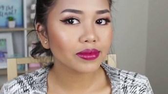 Maquiagem Simples Com Batom Pink Para O Dia A Dia, Para Mulheres Vaidosas!
