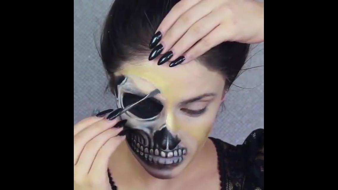 Maquiagens de caveira mexicana para o Halloween