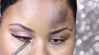 Maquiando Metade Do Rosto Para Mostrar A Grande Diferença!