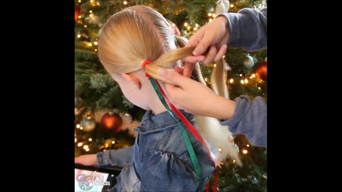 Maria-chiquinha para garotinhas com tema natalino