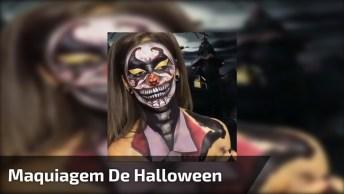 Melhor Maquiagem De Halloween, Veja Como Ficou Incrível Essa Make!