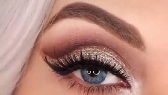 Melhor Tutorial De Maquiagem Para Os Olhos Do Dia, Resultado Fantástico!