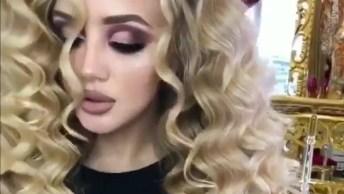 Mulher Com Maquiagem E Cabelo Lindo, Esse Cabelo Causa Inveja Por Onde Passa!