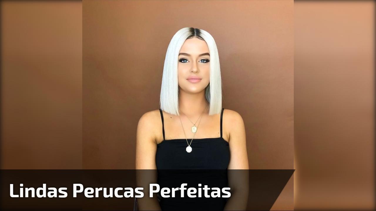 Lindas perucas perfeitas
